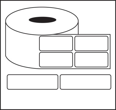 Nplabel Barcode Label 50X25MM Self-adhesive Paper Label