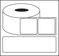Nplabel Barcode Label 100X75MM Self-adhesive Paper Label(White)