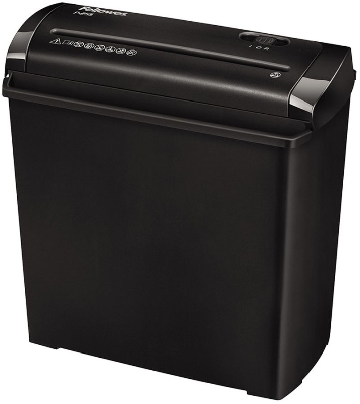 Fellowes P-25S Level 1 Strip-cut Office Paper Shredder(Black/Grey)