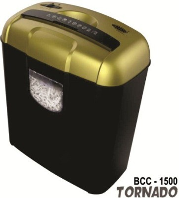 Bambalio 6 Sheets Paper/Cd/Credit Card Level 3 Cross-cut Office Paper Shredder(Gold)