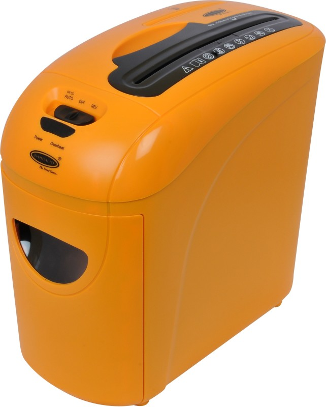 Bambalio 10 Sheets Paper/Cd/Credit Card Level 3 Cross-cut Office Paper Shredder(Orange)