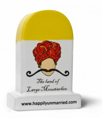 Happily Unmarried Rajasthan Milestone Ceramic Paper Weights