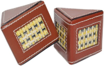 Knott Pw-series Leather Paper Weights with Cone Shape(Set Of 2, Brown)
