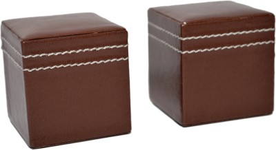 Knott PW-Series Leather Paper Weights with Square shape(Set Of 2, Brown)