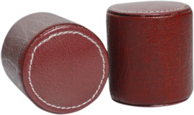 Knott PW-Series Leather Paper Weights with Cyllender Shape(Set Of 2, Cherry)