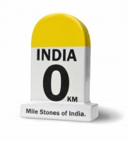 Happily Unmarried India It All Began Milestone Ceramic Paper Weights(Set Of 1, Yellow)