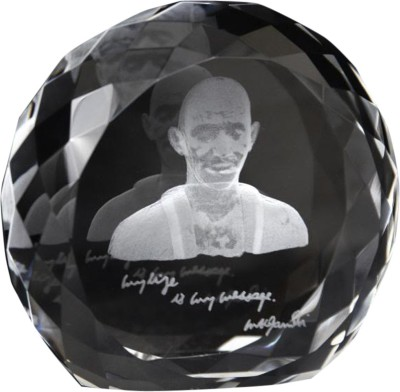 Eternal Gandhi Mark V1 Crystal Paper Weights  with Glass Finish