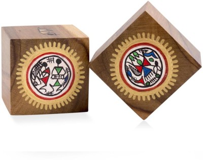 VarEesha Set of Two Wooden Paper Weights  with Matte Finish(Set Of 2, Brown)