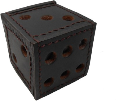 Maine Haiten D Series Leather Paper Weights  with Dice