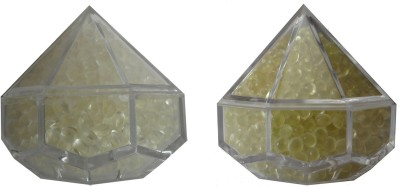 Miracle Rose Kesar Chandan and Spanish Touch Plastic Paper Weights  with Glass Finish