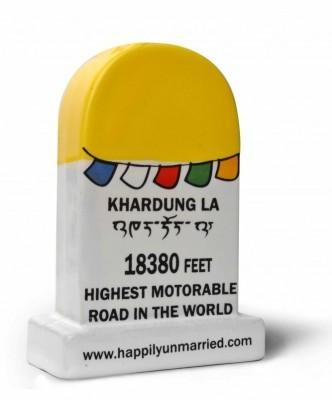 Happily Unmarried Ladakh Milestone Ceramic Paper Weights(Set Of 1, Yellow)