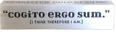 Random in Tandem Carpe Diem Aluminium Paper Weights  with Silver Finish