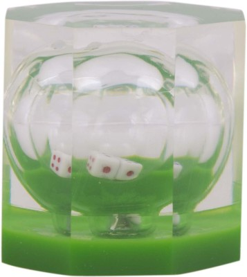 Dolphin Premium Acrylic Paper Weights with Dice(Set Of 1, Green)