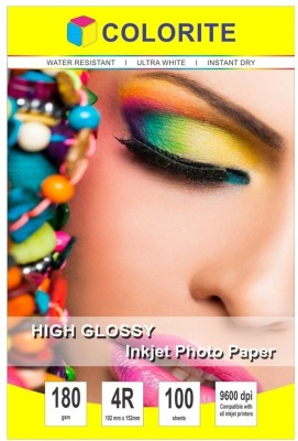Colorite 180gsm Cast Coated Inkjet Unruled 4R Photo Paper