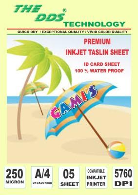 DDS Inkjet TASLIN ID CARD 5 sheet pack A/4 Printer Paper
