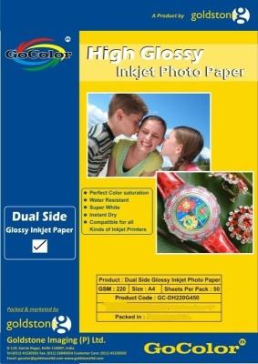 GoColor Duel Side Matte Coated 220 GSM - 50 Sheets Inkjet Photo Paper Unruled A4 Photo Paper