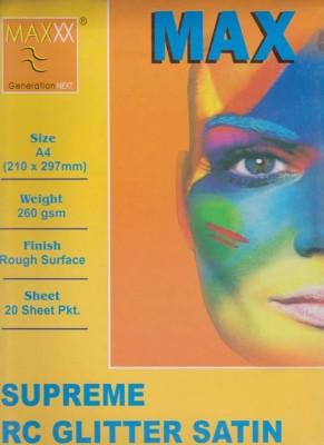 Max A4 Supreme RC Glitter Satin 260gsm Photo Paper