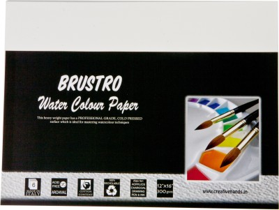 Brustro Watercolor Paper 300 gsm Pack (12