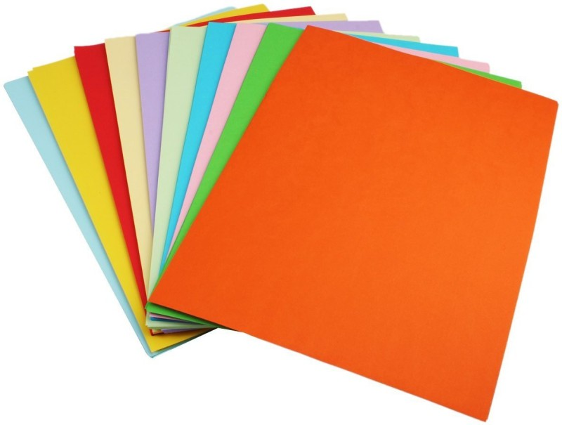 AND Retails Standard Unruled A4 Coloured Paper(Set of 1, Multicolour)
