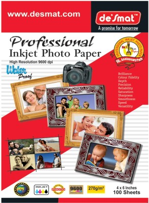 Desmat PhotoGlossy Paper Unruled 4R Photo Paper