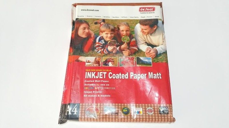 Desmat Inkjet Paper Unruled A4 Inkjet Paper(Set of 2, White)