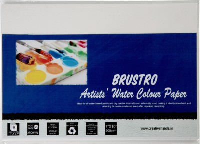Brustro Artist Watercolor Paper 300 gsm Pack (7