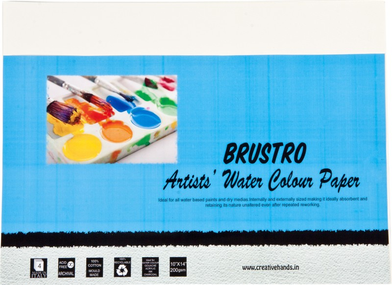 Brustro Artist Watercolor Paper 200 gsm Pack (10