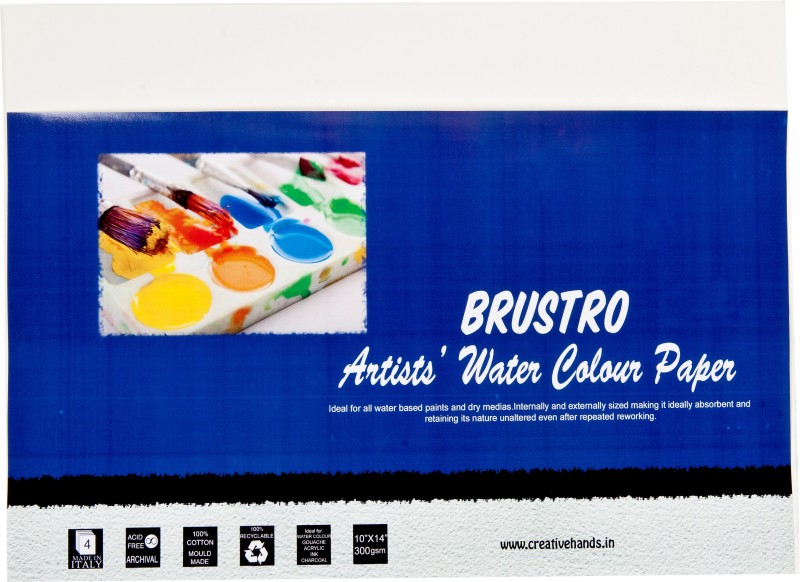 Brustro Artist Watercolor Paper 300 gsm Pack (10