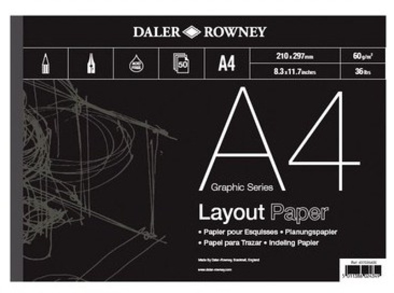 Daler-Rowney Graphic A4 Layout Paper