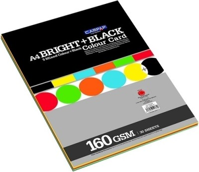 Campap A4 Coloured Paper(Set of 2, Assorted)