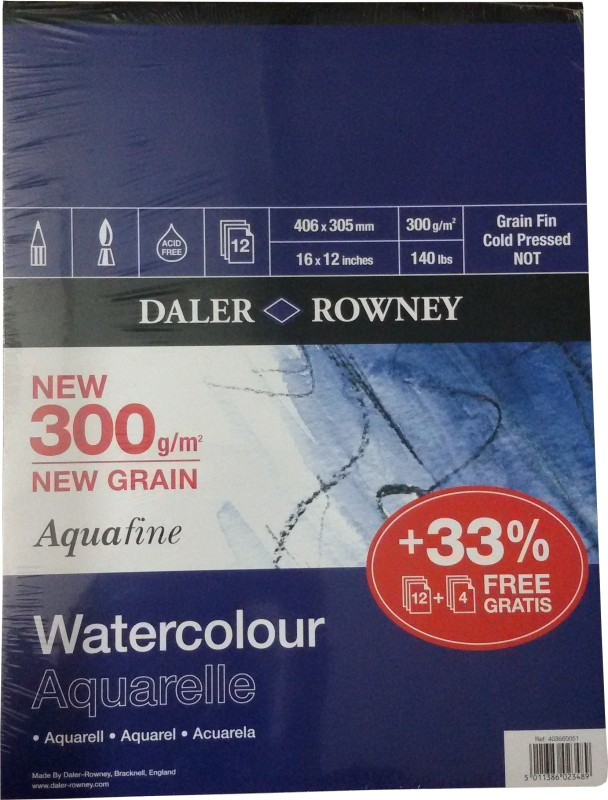 Daler-Rowney Aquafine Watercolor Paper