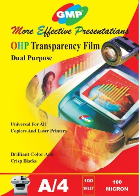 GMP A4 OHP 100 Micron Transparency Film 100 Sheet Unruled A4 Inkjet Paper