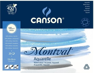 Canson Montval Unruled 19 x 24 CM Watercolor Paper