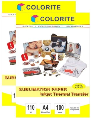 Colorite 110gsm Sublimation Heat Transfer Unruled A4 Printer Paper
