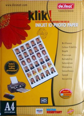 Desmat Klik Unruled A4 Photo Paper