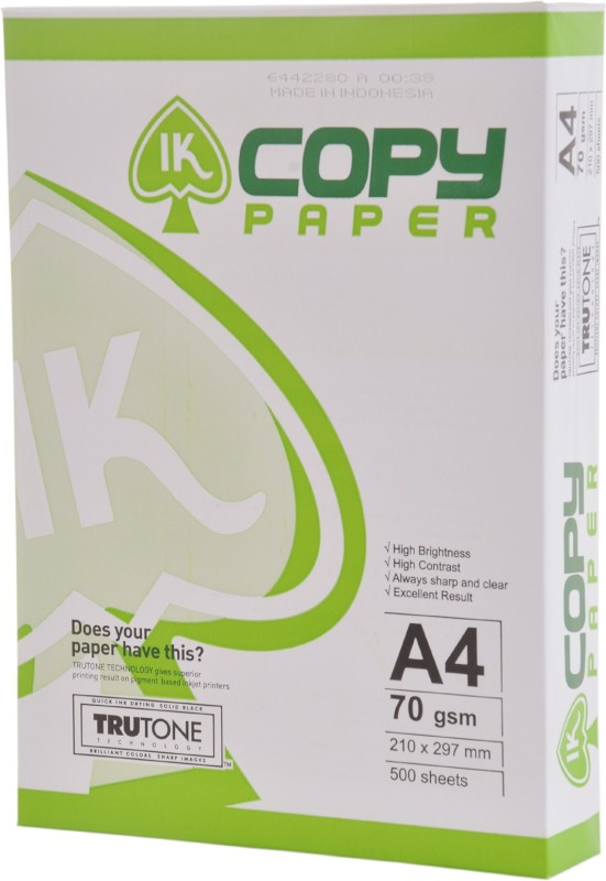 IK Trutone Unruled A4 Printer Paper(Set of 1, White)