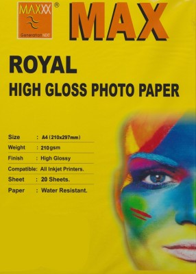 Max A4 High Glossy 210Gsm Photo Paper