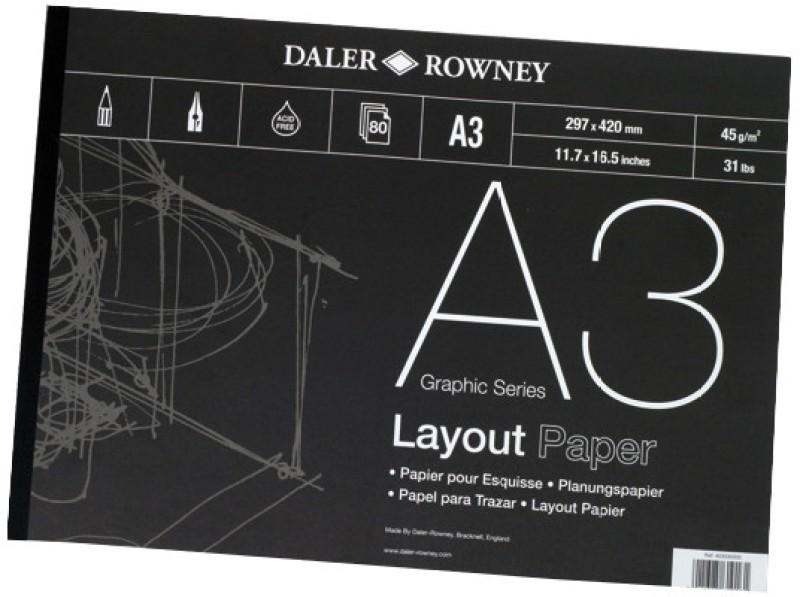 Daler-Rowney Graphic A3 Layout Paper