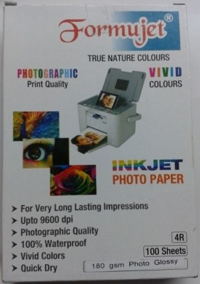 Formujet 4R100 Sheets Unruled 4R Photo Paper