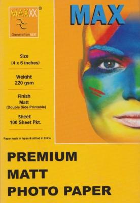 Max 4*6 Premium MATTE Photo Paper(Dual Side) 220gsm Photo Paper