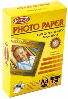 Bambalio Unruled 4R Photo Paper