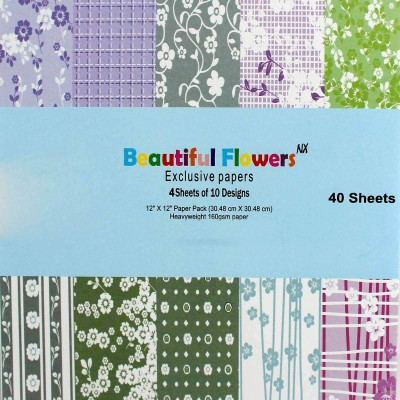 Tootpado Craft Paper Unruled 12 x 12 Craft paper