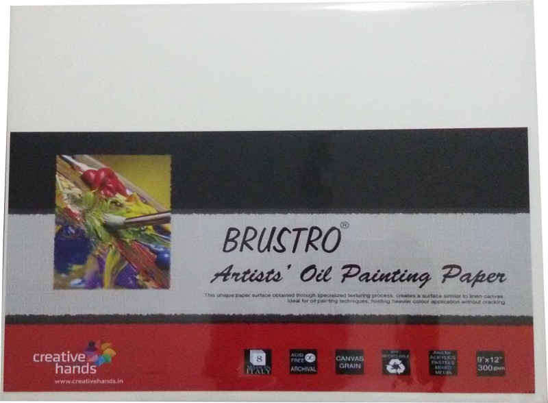 Brustro Artist Oil Painting Paper 300 gsm Pack (9