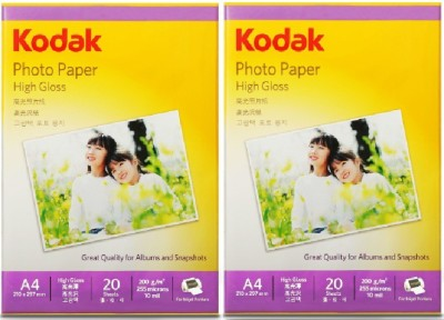 Kodak High Gloss Unruled A4 Inkjet Paper