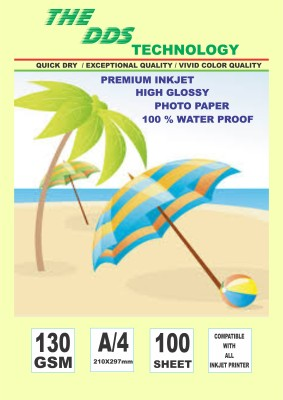 DDS Photo Paper-100.SHEET Unruled A4 Inkjet Paper