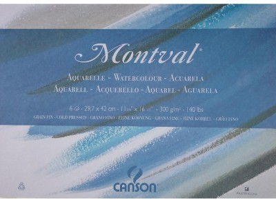 Canson Montval Unruled A3 Watercolor Paper
