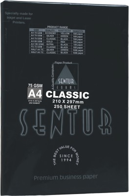 Sentur 75 Gsm Classic 250 Sheet (Specially Made For Inkjet & Laser Printer) Unruled A4 ( 210 mm x 297 mm ) Printer Paper