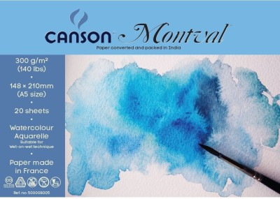 Canson Montval 300 Gsm A5 Pack Of 20 Sheets Sketch Pad