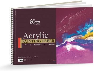 Campap Arto Linen Canvas Texture A4 Acrylic Paper