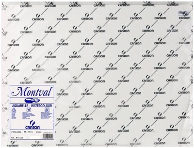 Canson Montval Unruled 55 x 75 CM Watercolor Paper